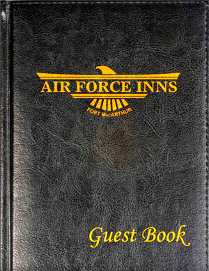 Air Force Inns Guest Book