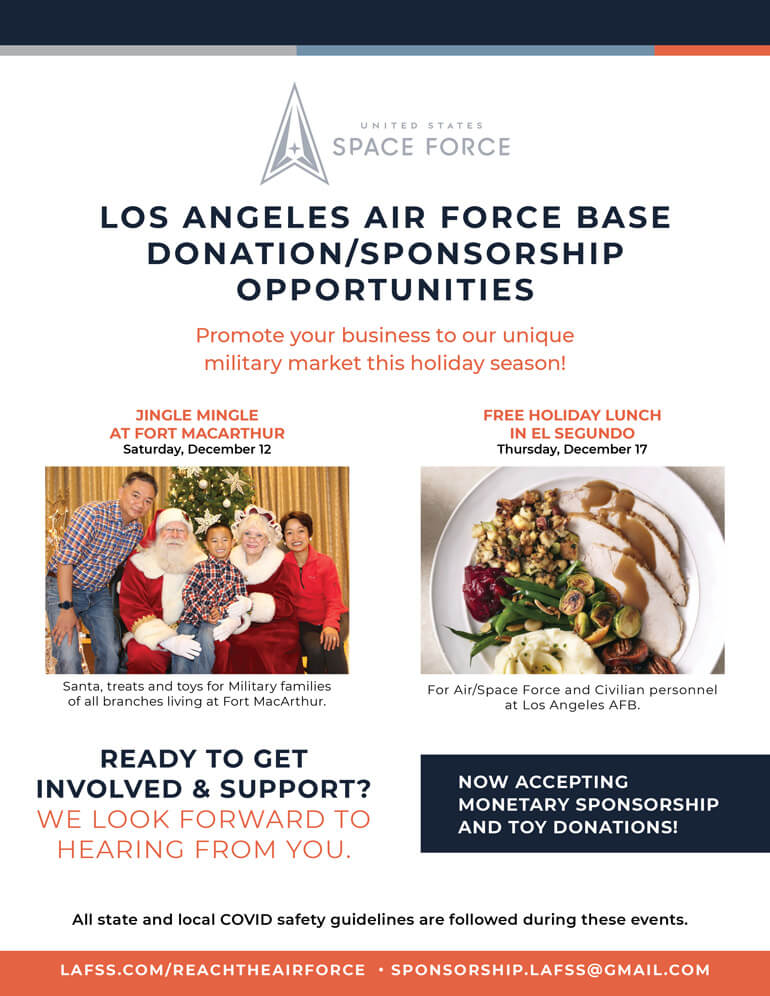 LAAFB Holiday Sponsorship Opportunity