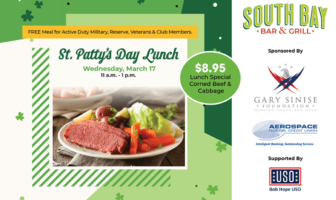 St. Patty's Day Free Family Meal